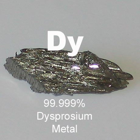 99.999% Ultra High Purity Dysprosium Metal (Dy)