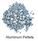 High purity aluminum pellets