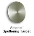 High Purity (99.99999%) Arsenic (As) Sputtering Target