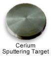 High purity cerium sputtering target