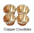 Ultra High Purity (99.95%) Copper Crucibles