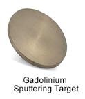 High Purity (99.999%) Gadolinium (Gd) Sputtering Target