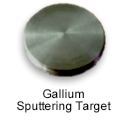 High Purity (99.999%) Gallium (Ga) Sputtering Target