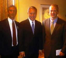 American Elements CEO Michael Silver, Alaska Governor Sean Purnell and Alaska Senator Dan Sullivan