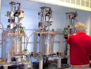 Crystallography Laboratory showing Nd:YAG crystal growth in process