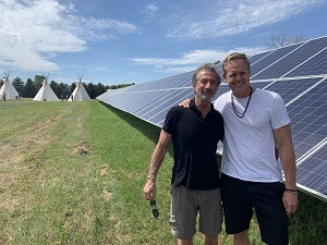 American Elements CEO and GivePower President Hayes Barnard at the Standing Rock GivePower solar power farm