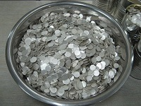High purity praseodymium discs