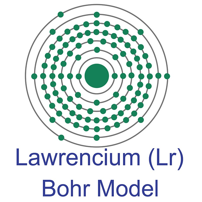 Lawrencium Bohr Model