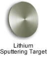 High purity lithium sputtering target