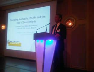 American Elements CEO Speaking at Euromines Critical Materials Conference, Brussels, March 9, 2012