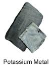 High purity potassium metal