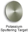 High purity potassium sputtering target