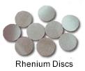 High Purity (99.999%) Rhenium Disc