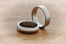 American Elements 4mm iridium wedding bands