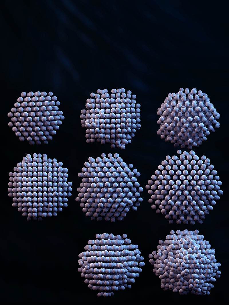 3-D reconstructions of individual nanoparticles