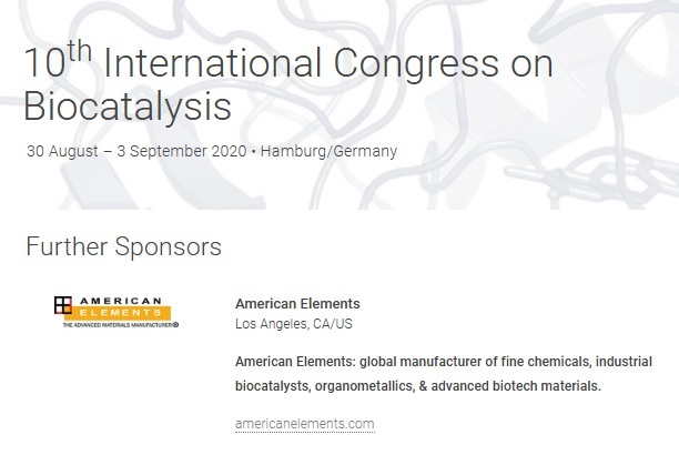 10th International Congress on Biocatalysis 2020