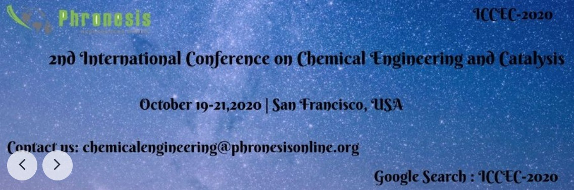 2nd International Conference on Chemical Engineering & Catalysis - ICCEC 2020