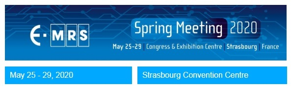 38th Spring Meeting of the European Materials Research Society - E-MRS 2020