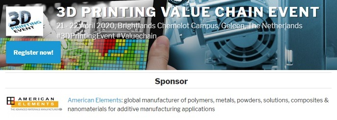 3D Printing Value Chain Event 2020