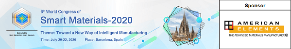 6th Annual World Congress of Smart Materials - WCSM 2020