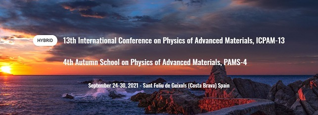 ICPAM13 2021, 11th International Conference On Physics Of Advanced Materials & 4th Autumn school on Physics of Advanced Materials