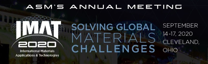 IMAT 2020 - International Material Applications & Technologies - ASMs Annual Meeting
