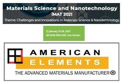 iMAT 2021 - Webinar on Materials Science and Nanotechnology, 2nd Edition