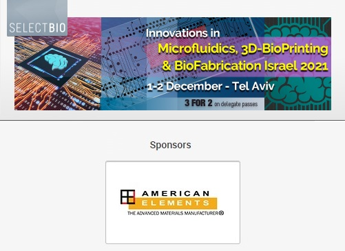 Microfluidics, 3D-BioPrinting & BioFabrication Israel 2021 Exhibition