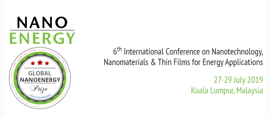 NanoEnergy 2020 - 6th International Conference on Nanotechnology, Nanomaterials and Thin Films for Energy Applications