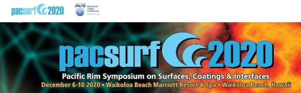Pacsurf 2020 - Pacific Rim Symposium On Surfaces, Coatings & Interfaces