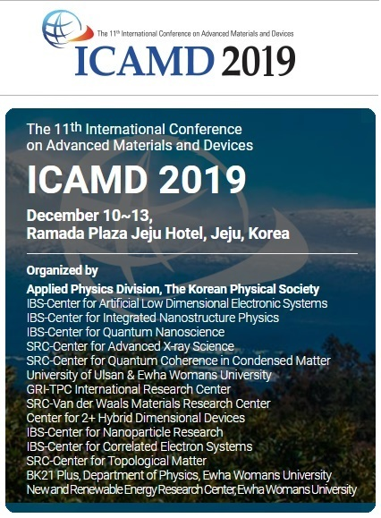The 11th International Conference on Advanced Materials and Devices - ICAMD 2019