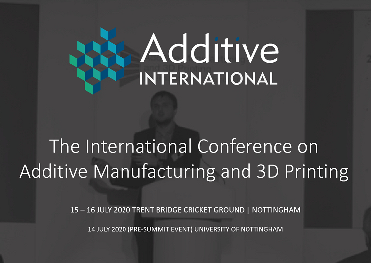 POSTPONED | The International Conference on Additive Manufacturing & 3D Printing 2020