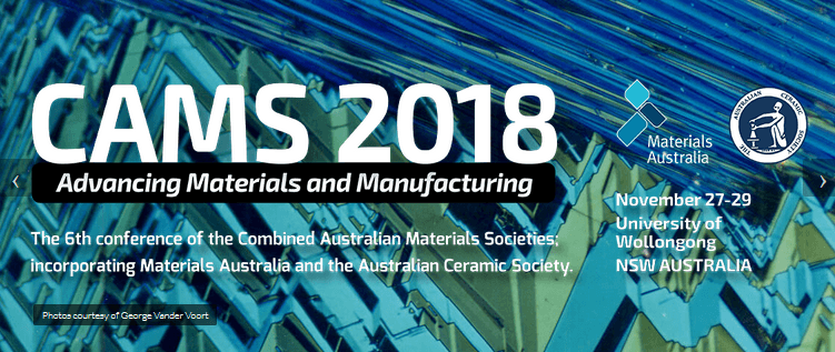 American-Elements-Sponsors-CAMS-2018-Advancing-Materials-and-Manufacturing-6th-Conference-on-the-Combined-Australian-Materials-Societies