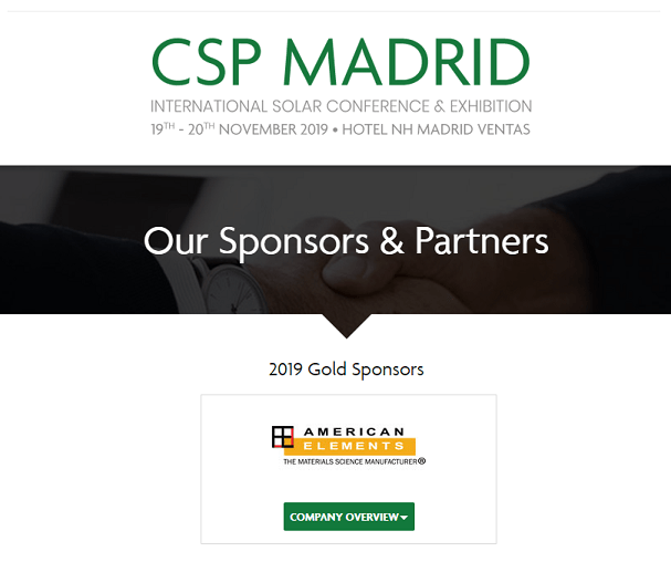 CSP Madrid 2019 - International Solar Conference & Exhibition