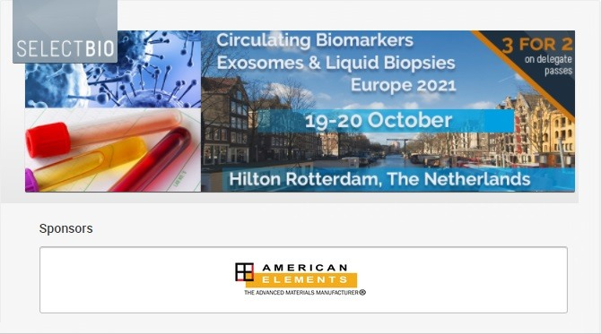 Circulating Biomarkers, Exosomes and Liquid Biopsy Europe 2021 Exhibition