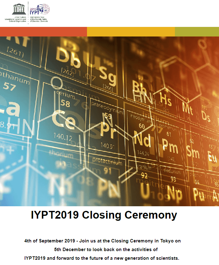 International Year of the Periodic Table 2019 Closing Ceremony - IYPT 2019