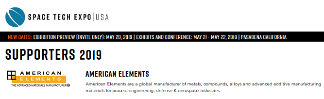 American-Elements-Sponsors-Space-Tech-Expo-Conference-2019-logo
