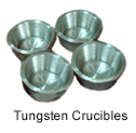 Ultra High Purity (99.95%) Tungsten Crucibles