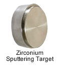 High Purity (99.999%) Zirconium (Zr) Sputtering Target